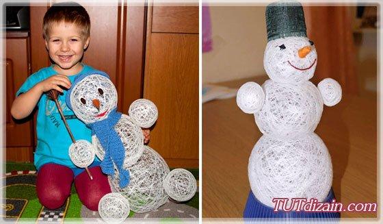 Большие снеговики своими руками фото