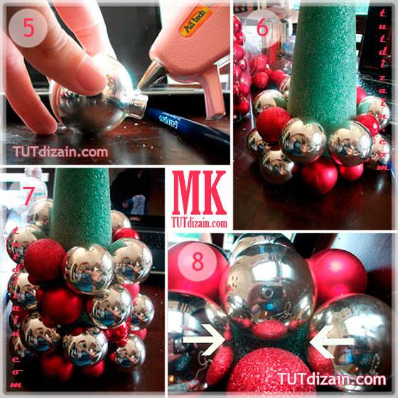 Новогодние елки своими руками из шаров