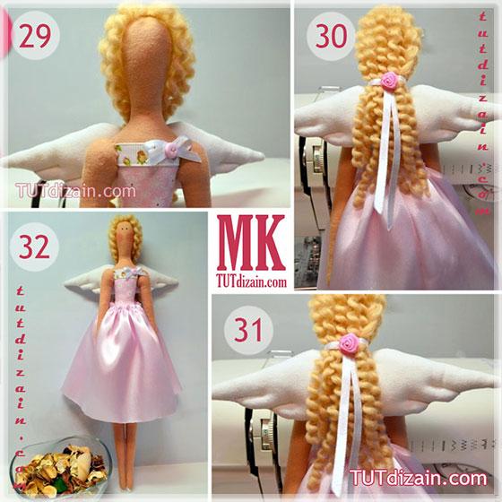 Волосы для кукол тильды своими руками 70