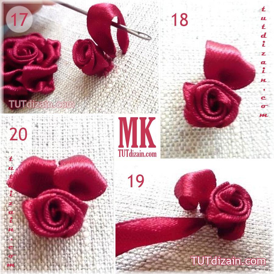 Вышивка розы лентой мастер-класс 9837