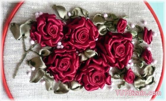 Предлагаем очередной урок по вышивке лентами, на этот раз это будут розы. .