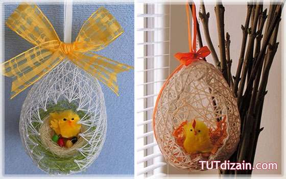 Как сделать сувенирные яйца на пасху