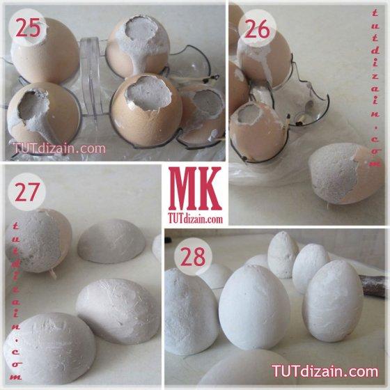 Гипсовые заготовки для пасхальных яиц