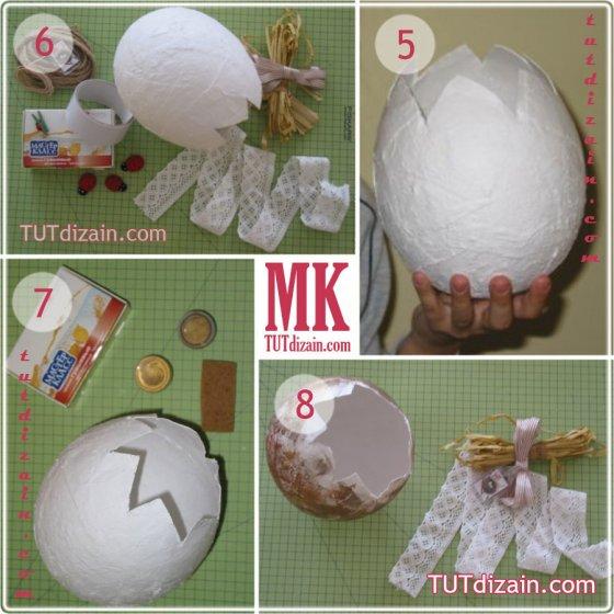 Вазочка в форме яйца. Мастер-класс