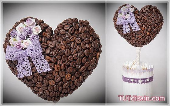 Кофейное дерево-сердце своими руками