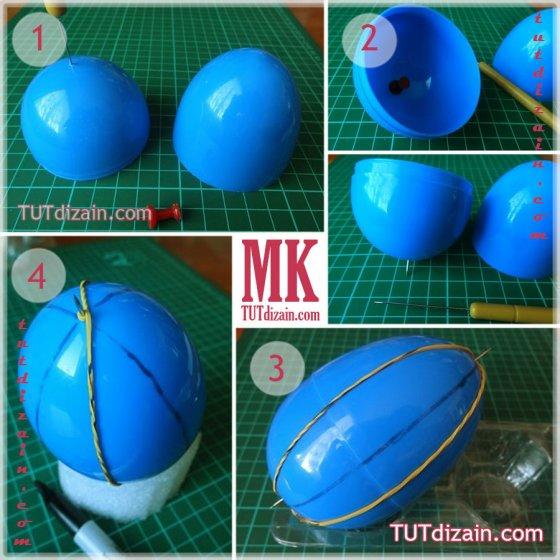 Ажурное яйцо в технике квиллинг