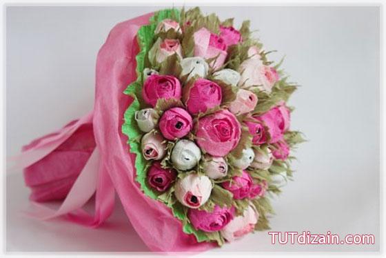 Как сделать букет из роз из конфет своими руками - Раум Профи