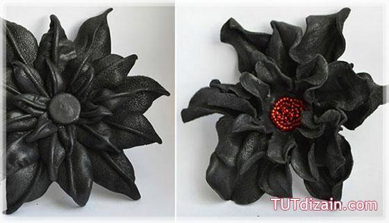 Как сделать цветок из кожи мастер класс 518