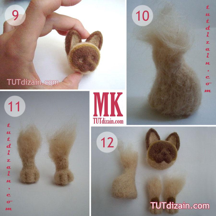 Как сделать игрушку из шерсти для валяния для начинающих