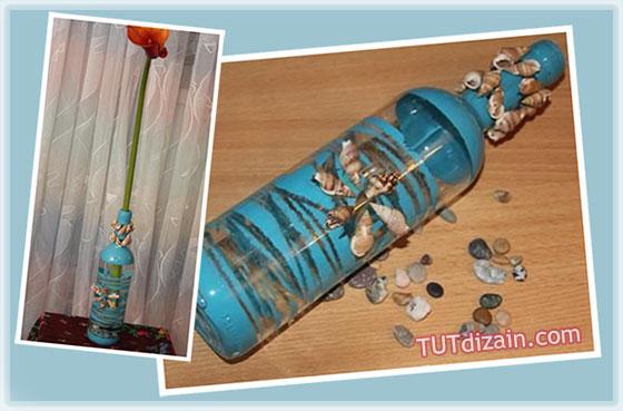 Морские поделки из бутылок 480