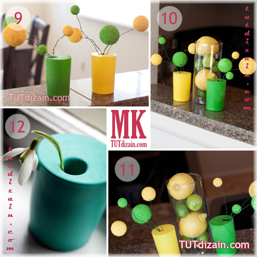 Как сделать вазу из шариков фото 202