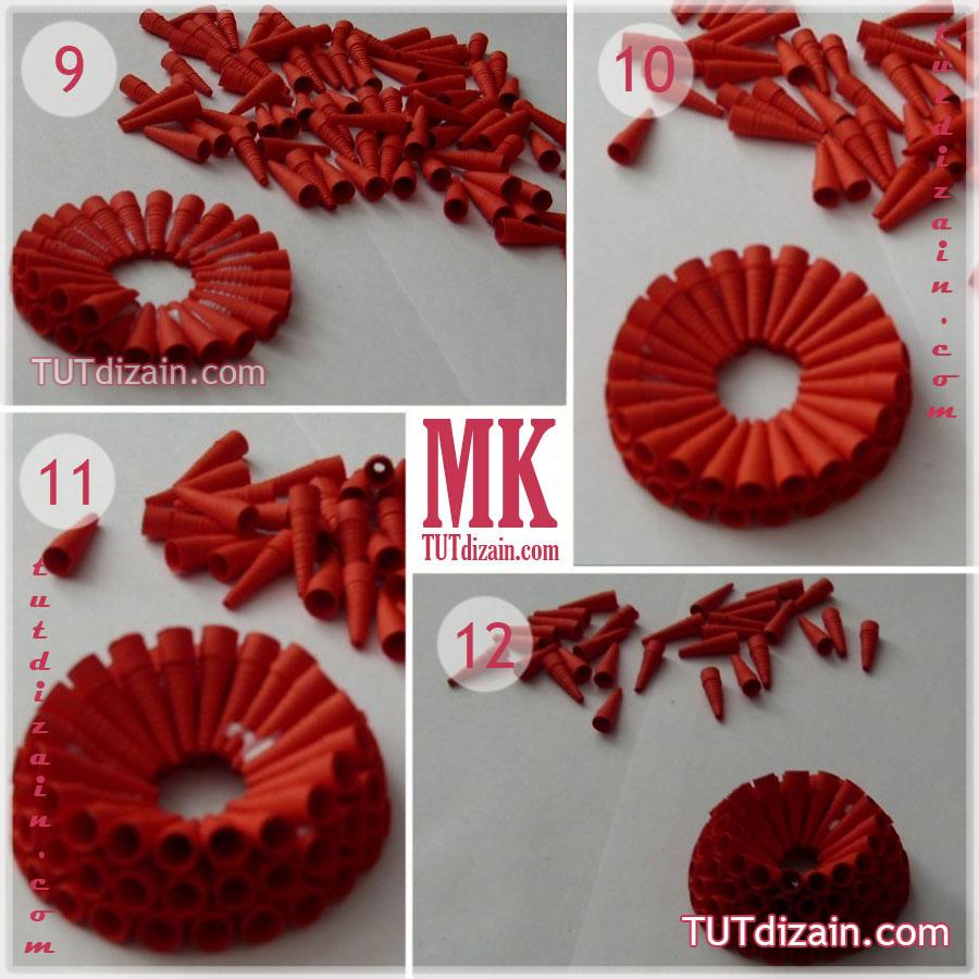 Как сделать объемные цветы из бумаги для украшения зала 160