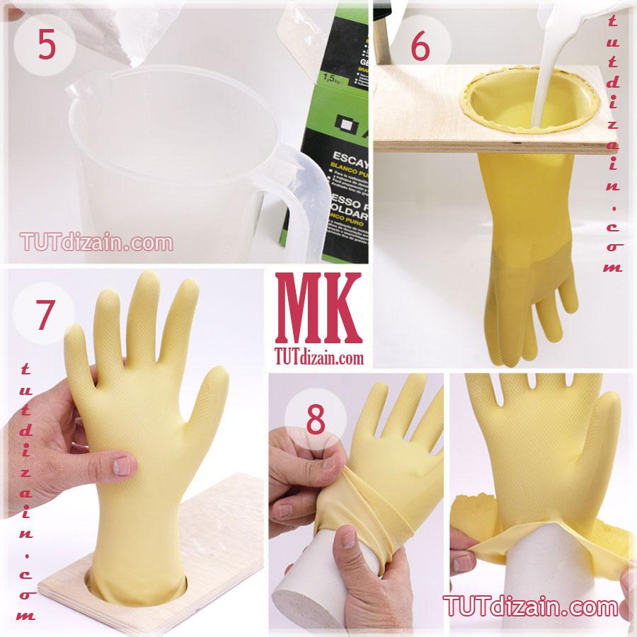 Как сделать руку из гипса пошагово