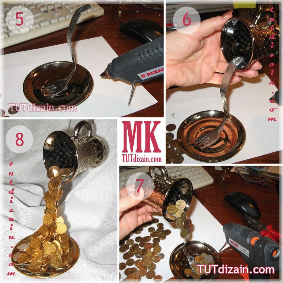 Как сделать парящую чашку своими руками пошаговая