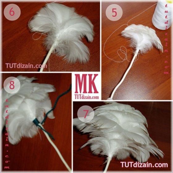 Что сделать из перьев своими руками