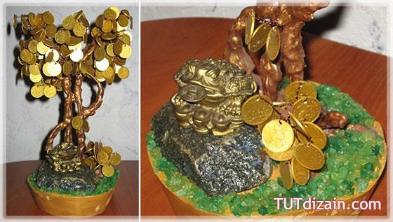 Мастер класс денежное дерево из монет своими