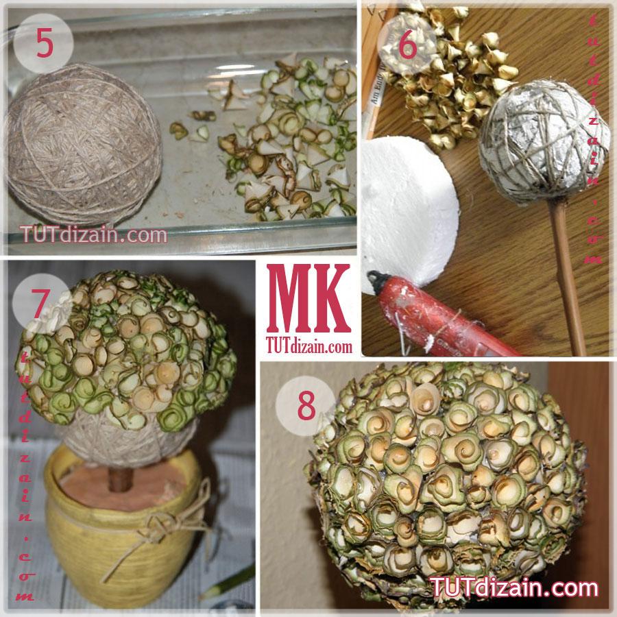Как сделать шар для топиария своими руками из газеты 4
