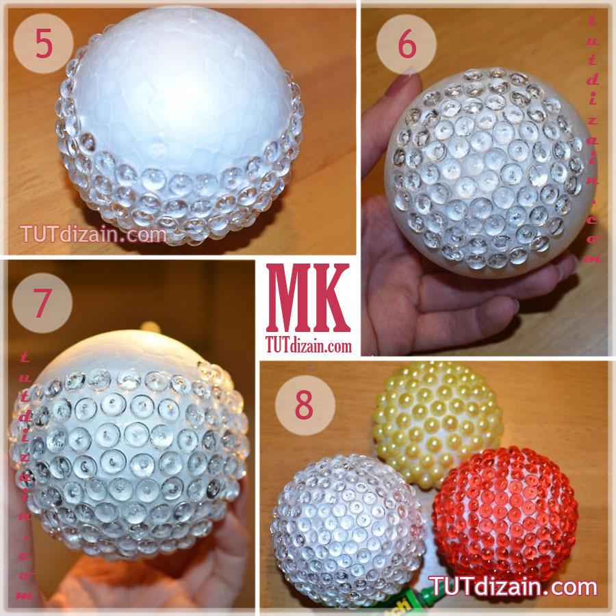 Елочные шары своими руками мастер фото 607
