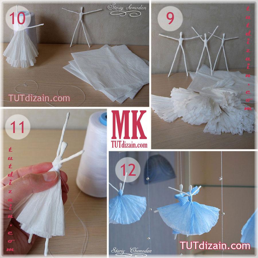 Как сделать куклу из проволоки и салфеток
