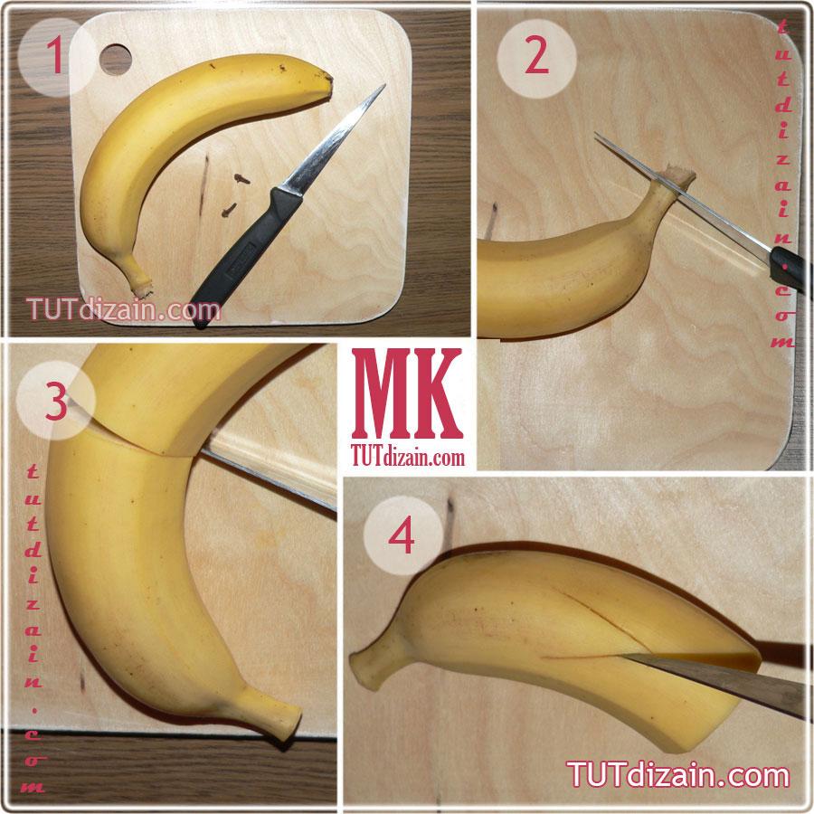 Как из бананов сделать дельфинов из