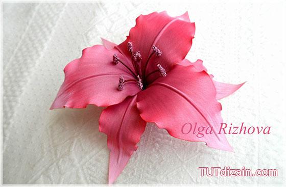 Цветы из ткани лилии мастер класс