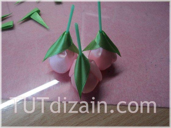 Цветочная композиция канзаши «тюльпаны»