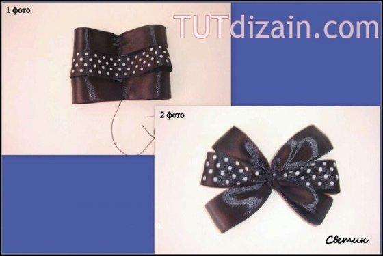 МК галстук-брошь для девочки